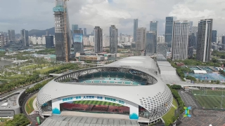 Vision from the sky! Through the drone flying in Shenzhen!